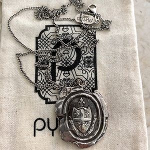 Pyrrha Five Fleur de Lys Sterling Silver Talisman